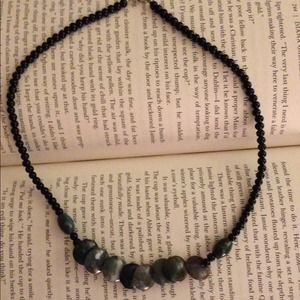 Handmade stone beaded necklace