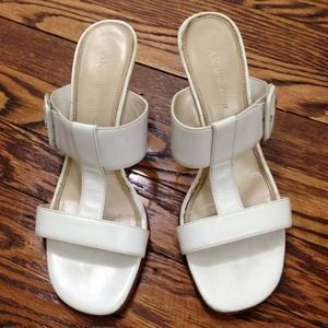 Anne Klein Shoes - Anne Klein White Sandal