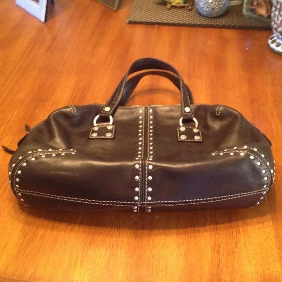 8b64f6aad553 MICHAEL Michael Kors Bags | Vintage Michael Kors Black Leather Bag ...