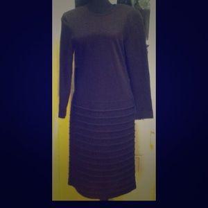 Vintage 1980's David Warren NY 3/4 Length Dress