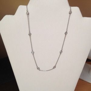 Cubic Zirconia station necklace
