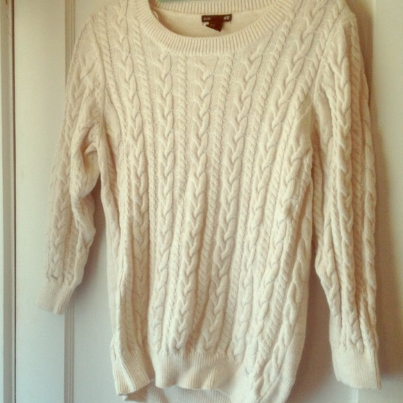 e2332308d3 H M Sweaters - Beige H M cable knit sweater M