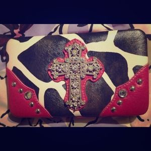 Clutches & Wallets - Large bling cross wallet