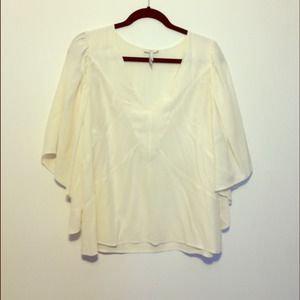 JOIE Flutter Sleeve Silk Ivory Top! REDUCED!