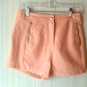 ❤️ Pink Faux Leather High Waisted Shorts ❤️