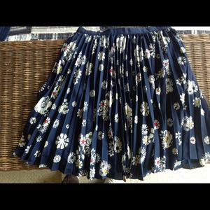 Jason Wu for Target floral pleated blue skirt