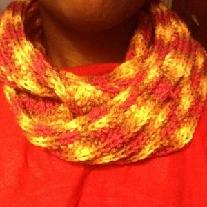 Accessories - Home made crocheted double loop scarf