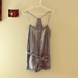 Abercrombie & Fitch Tops - Denim looking Overall jumpsuit