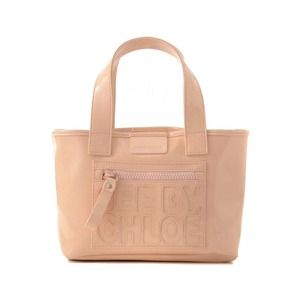 See by Chloe nude patent zip file tote diaper bag