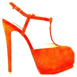Shoemint Mia- Orange Peep Toe