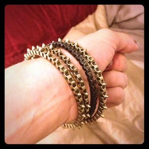 HOST PICK!! NWOT metal spiked bangle bracelets