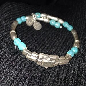 Alex and Ani wrap silver bracelet