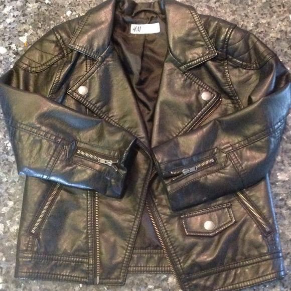 Boys H&m Faux Leather Jacket