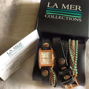 🎉HP! 12/12🎉 La Mer Turquoise Crystal Wrap Watch