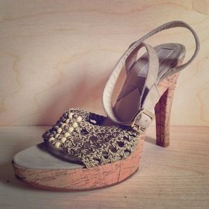 Michael Kors cork and suede weave sandals NEW!