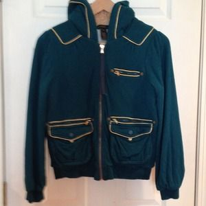 Marc by Marc Jacobs green/gold lining Jacket