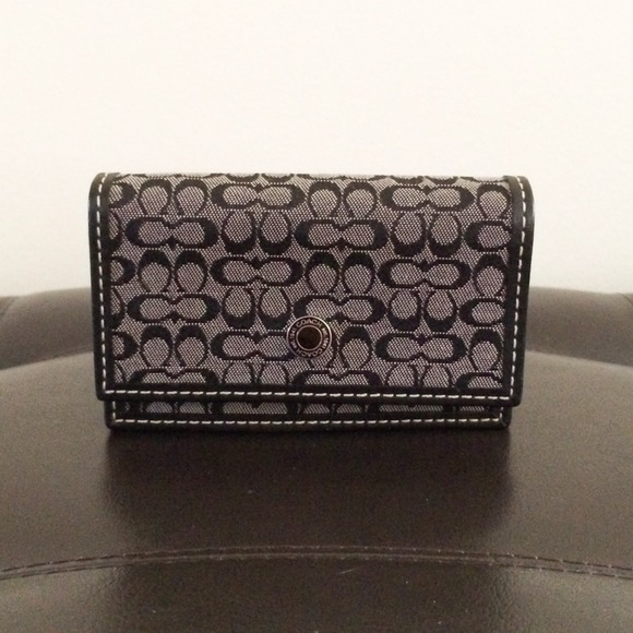 70 off coach accessories reserved coach business card for Business card holder coach