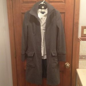H&M long fitted grey wool coat-REDUCED