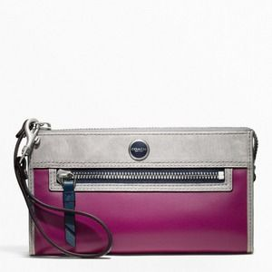 COACH LEATHER COLORBLOCK WALLET