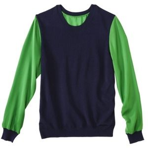 🔴 SOLD 🔴 Phillip Lim for Target navy/green top