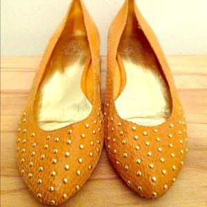 Yellow flats with gold embellishment