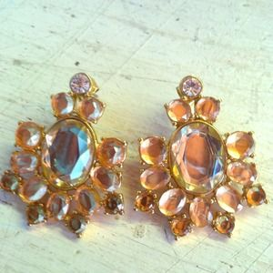 J.crew Chrystal chandelier earrings