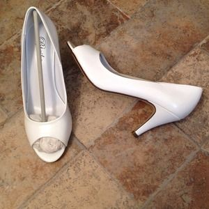 NEW White heels