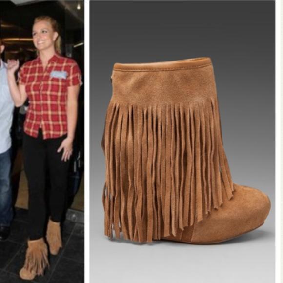 Koolaburra Shoes Fringe Tan Boot Seen On Britney Spears Poshmark