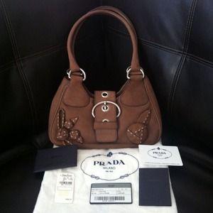 prada navy suede handbag e9b988c46d