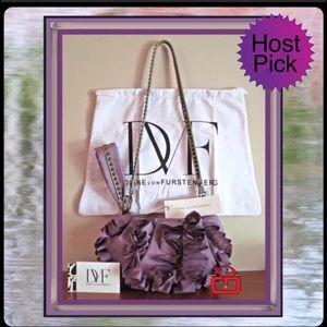 Diane von Furstenberg Purple convertible bag NWT