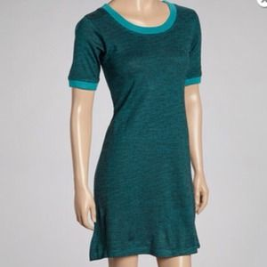 Dresses & Skirts - Teal striped crew neck dress DONATED