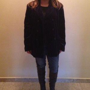 📞Gap Navy Blue Velvet Jacket
