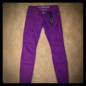 Reduced!! Express purple skinny jeans, NWT!