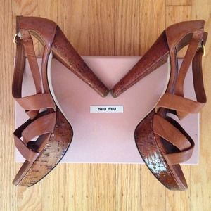 MIU MIU Shoes - Authentic MIU MIU platform sandals
