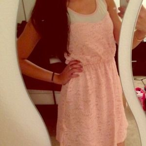 Dresses & Skirts - Pink Lace Dress NWT