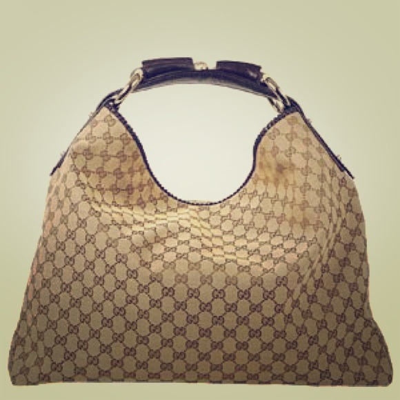30% off Gucci Handbags - Gucci horsebit brown monogram large hobo ...