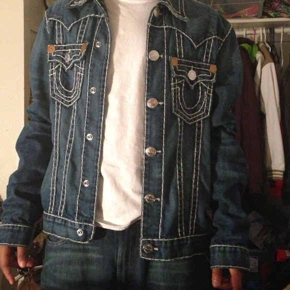 true religion jackets amp coats men jean jacket poshmark