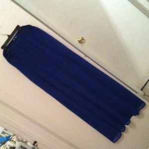 Blue H&M sheer dress