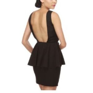 blaque label Dresses & Skirts - Blaque Label Final Showcase Black Peplum Dress