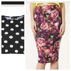 Topshop Tops - Bundle-Topshop crop top and Topshop floral skirt