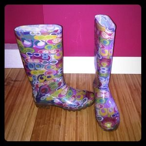 SALEAuthentic COACH rain boots  SZ 6