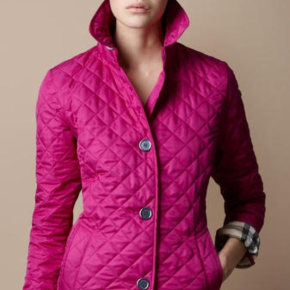 52% off Burberry Outerwear - 🚫reserved🚫Burberry-Pink Brit ... : burberry purple quilted jacket - Adamdwight.com