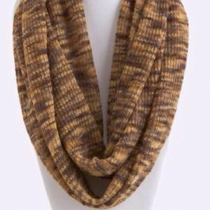 Accessories - Knit Infinity Scarf/Brown. Price Firm