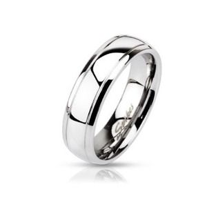 Jewelry - Stainless steel domed stepped edge band ring 9-12