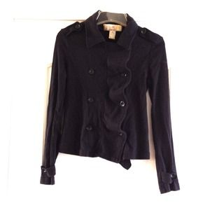 Black sweat pea coat jacket.
