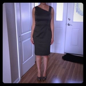 Olive green khaki sheath dress