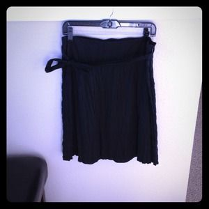 BCBG black skirt with sash