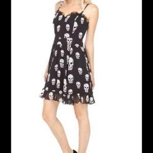 Dresses & Skirts - New with tags chiffon skull dress
