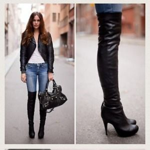 Thigh High OTK Leather Boots