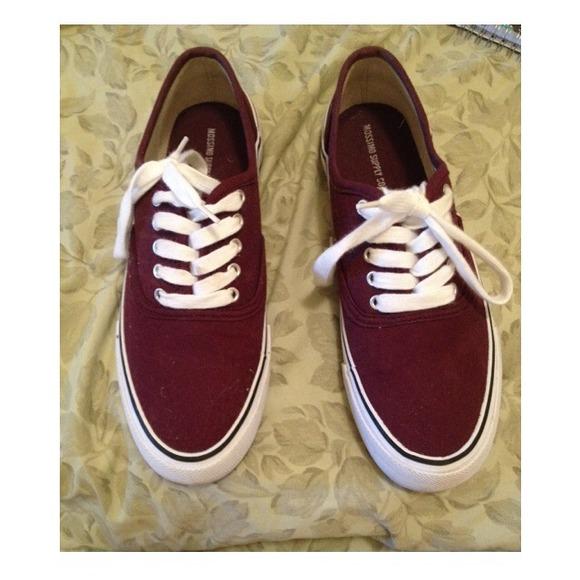 maroon color vans